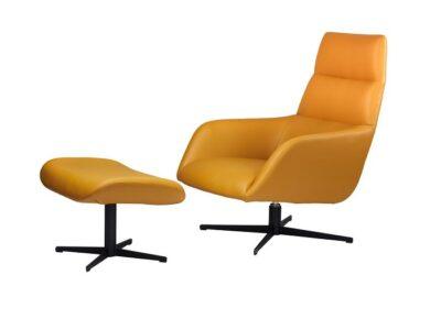 Кресло лаунж с подставкой Беркли