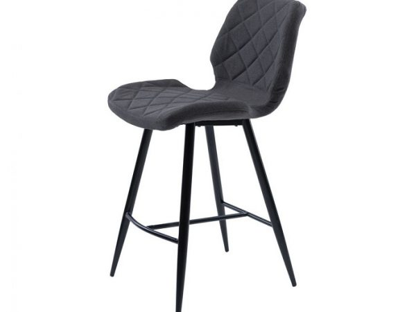Полубарный стул Даймонд серый графит