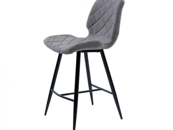 Полубарный стул Даймонд серый