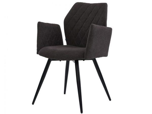 Кресло Глори угольный серый