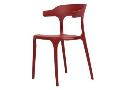 Стул Lucky (Лаки) пластиковый красный кармин