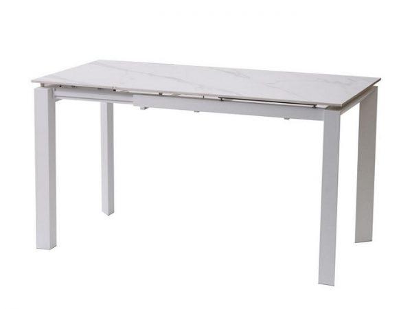 Стол Bright White Marble керамический  102-142 см