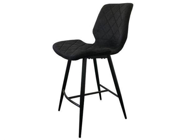 Полубарный стул Даймонд черный