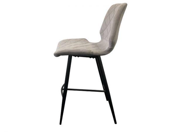 Полубарный стул Даймонд теплый серый