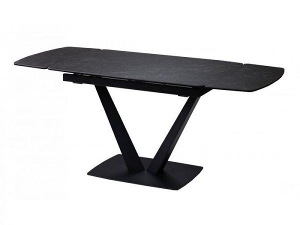 Стол Elvi Black Marble керамический 120-180см черный