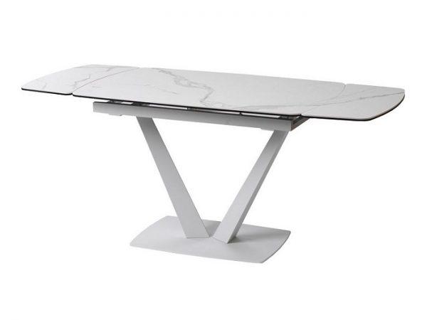 Стол Elvi Matte Staturario керамический 120-180см белый