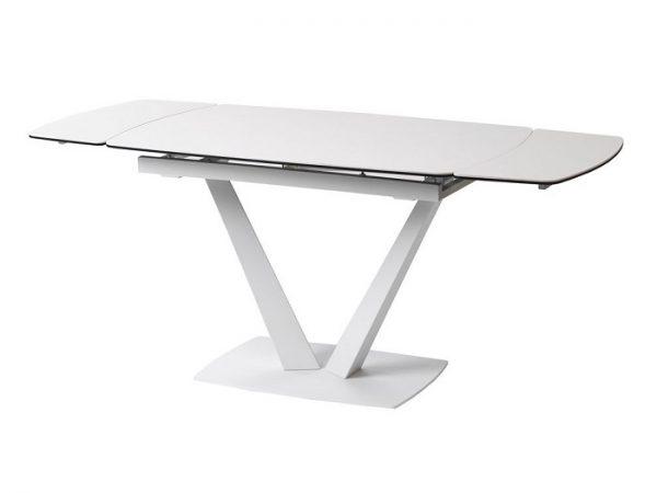 Стол Elvi Pure White керамический 120-180см белый